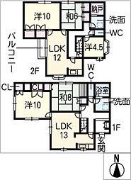 [一戸建] 三重県松阪市五主町 の賃貸【/】の間取り