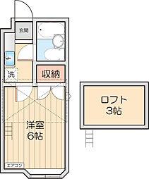 第3光ハイツ[2階]の間取り