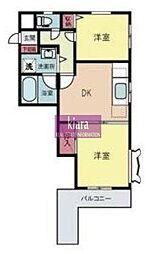 神奈川県横浜市南区中里3丁目の賃貸マンションの間取り