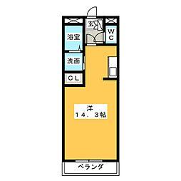 Avenir K[3階]の間取り