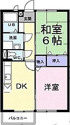 エクセル亀岡A棟[103号室号室]の間取り
