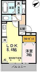 レグルス東刈谷[106号室]の間取り