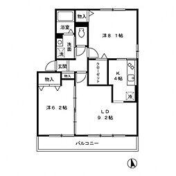 ステラパーク[2階]の間取り