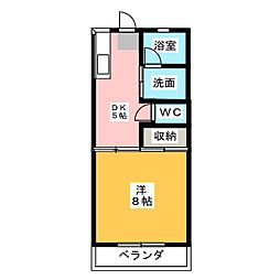 メゾン小野田[3階]の間取り