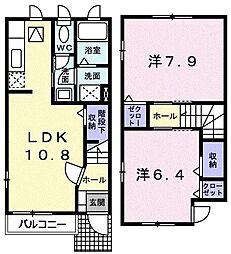 神奈川県小田原市小船の賃貸アパートの間取り