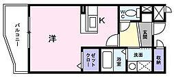 ユノディエール[7階]の間取り