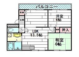 泉ヶ丘旭マンション[1階]の間取り