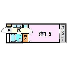 ユニテック武庫之荘[4階]の間取り
