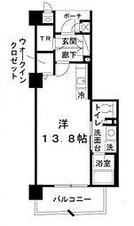 ロイヤルパークス桃坂[4階]の間取り