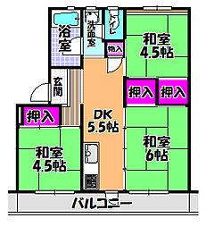 UR金剛マンション[5階]の間取り