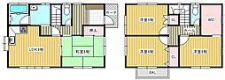 [一戸建] 神奈川県横須賀市衣笠栄町4丁目 の賃貸【/】の間取り