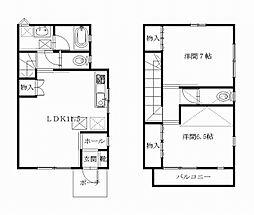 [テラスハウス] 神奈川県横須賀市金谷1丁目 の賃貸【/】の間取り
