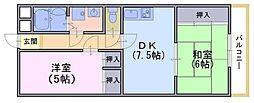 FORUM東向日[1階]の間取り
