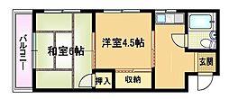 サンライズ都島[4階]の間取り