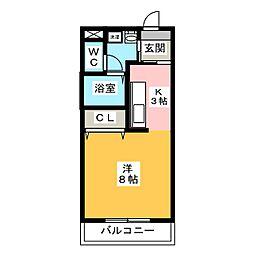 オリオンアパートメント[4階]の間取り