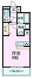 広島電鉄1系統 宇品4丁目駅 徒歩1分の賃貸マンション 7階ワンルームの間取り