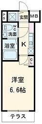 ガーラプレイス八幡山壱番館[1階]の間取り