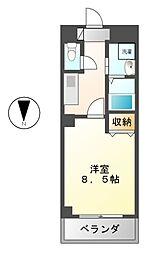 Studio(スタジオ)ナディア[4階]の間取り