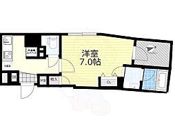 東武亀戸線 亀戸水神駅 徒歩9分の賃貸マンション 5階1Kの間取り