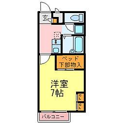 兵庫県尼崎市長洲東通3丁目の賃貸アパートの間取り