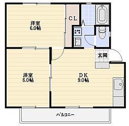 農住メゾン虹[2階]の間取り