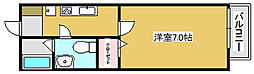 兵庫県高砂市高砂町浜田町の賃貸アパートの間取り