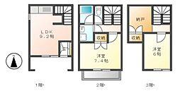 [テラスハウス] 愛知県名古屋市北区浪打町2丁目 の賃貸【/】の間取り