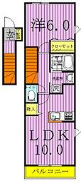 アルモニーAB棟[A204号室]の間取り