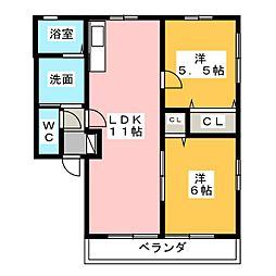 パティオA・B[1階]の間取り