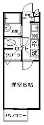 セレーノ西荻[202号室]の間取り