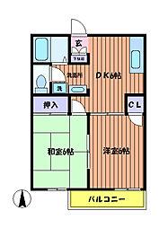 サングレー ハイツ[1階]の間取り