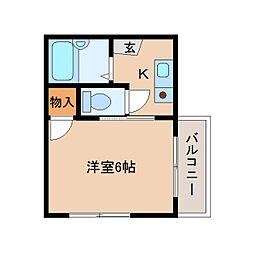 静岡県静岡市清水区谷田の賃貸マンションの間取り