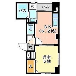 フロレスタ冷泉[4階]の間取り