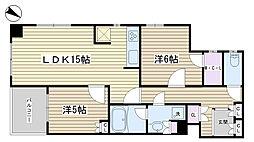 レジディア文京千石II[401号室]の間取り