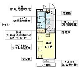 東京都江戸川区松江6丁目の賃貸アパートの間取り