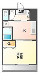 愛知県日進市北新町東口論義の賃貸マンションの間取り