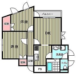 緑地マンション[7階]の間取り