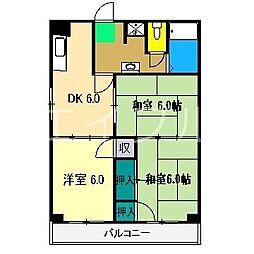 高野第一コーポ[4階]の間取り