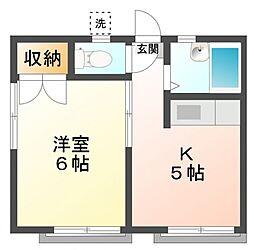 メゾン・カルムII[1階]の間取り