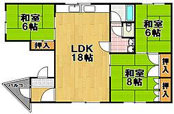 ソガベマンション[4階]の間取り