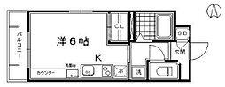 DETOM-1東福寺[201号室号室]の間取り