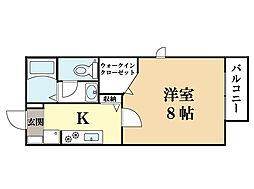 シャローム上田[1階]の間取り