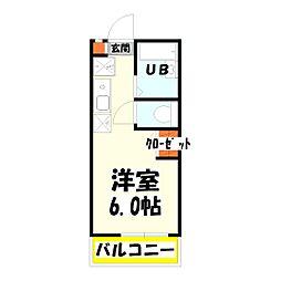 ポルト・ボヌール竹ノ塚[1階]の間取り