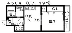 Vulcan城山(バルカン城山)[402号室号室]の間取り