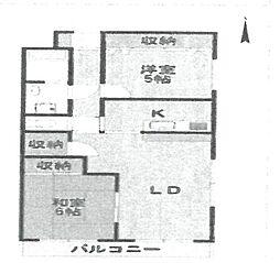 ミレア武庫之荘[503号室]の間取り