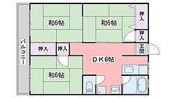 福岡県福岡市西区姪浜駅南1丁目の賃貸マンションの間取り