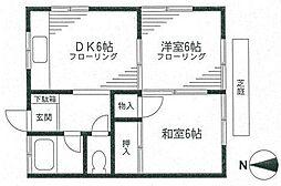 [一戸建] 神奈川県横浜市中区滝之上 の賃貸【/】の間取り