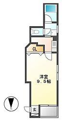 ジュネス5栄[3階]の間取り
