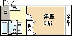 京都府宇治市広野町茶屋裏の賃貸マンションの間取り
