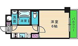 U-ro鶴橋駅前 8階1Kの間取り
